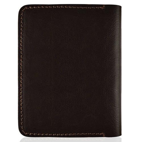 Cienki skórzany portfel męski Solier SW10 brązowy