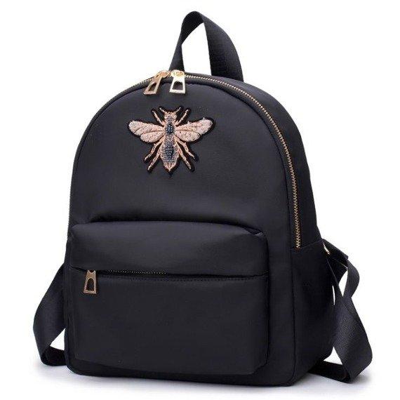 Czarny plecak damski z osą
