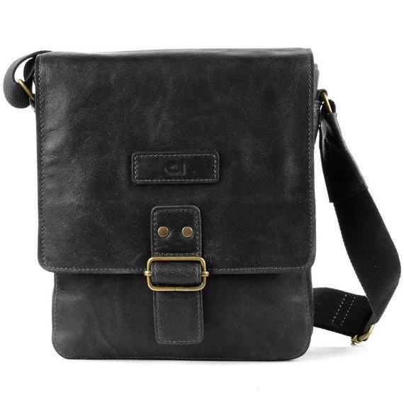 DAAG Jazzy Organic 3 czarna skórzana torba na ramię unisex