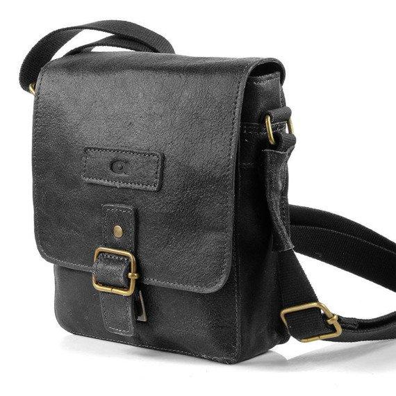 DAAG Jazzy Organic 4 czarna skórzana torba na ramię unisex