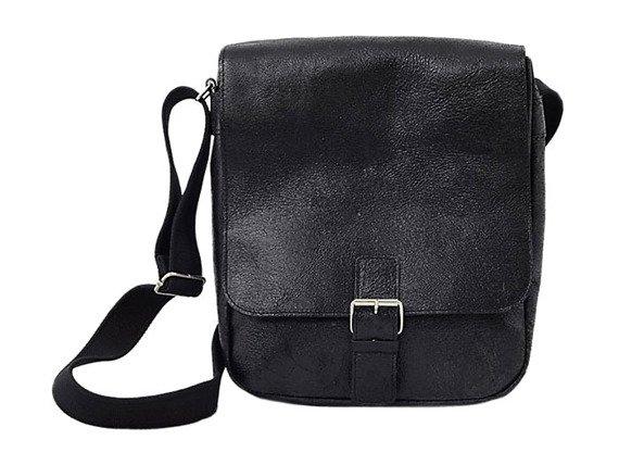 DAAG Jazzy Wanted 9 czarna torba skórzana unisex listonoszka przez ramię