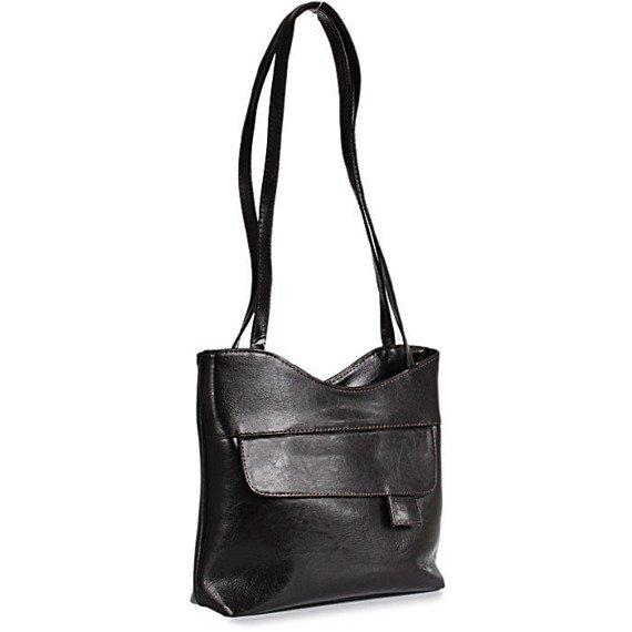 DAN-A T180 czekoladowa torebka skórzana damska