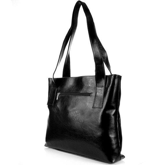 DAN-A T222 czarna torebka skórzana damska