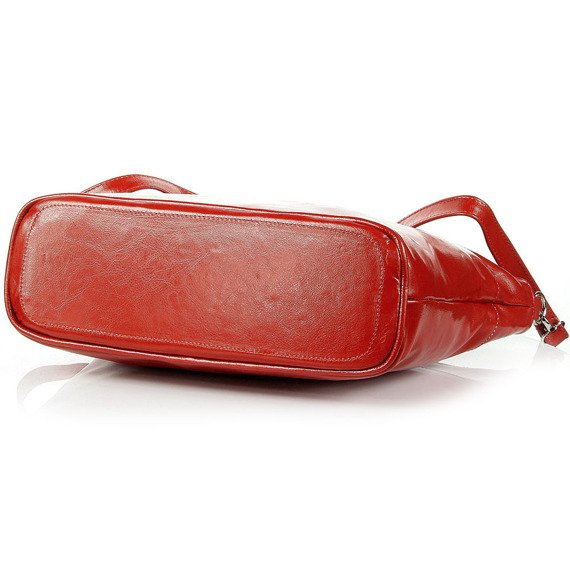 DAN-A T259 czerwona aktówka kuferek ze skóry naturalnej
