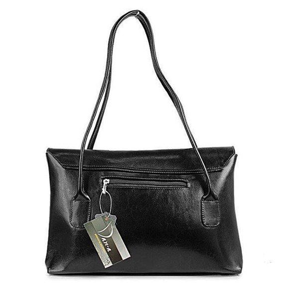DAN-A T49 czarna torebka skórzana damska