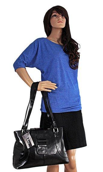 DAN-A T50 czarna torebka skórzana damska
