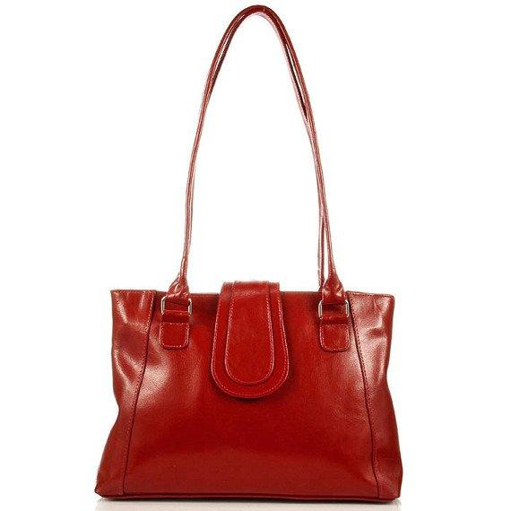 DAN-A T84A czerwona torebka skórzana damska