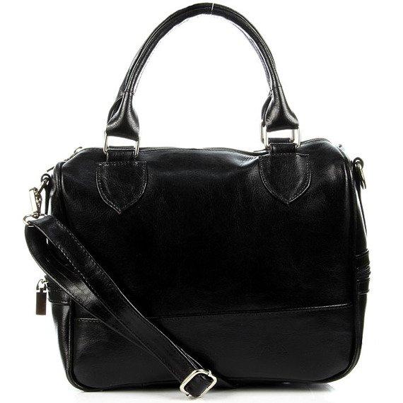 DAN-A T87 czarna torebka skórzana damska kuferek