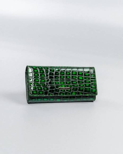 Damski portfel zielony Lorenti 72401-ZS-0161 GREEN