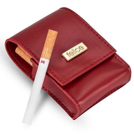 Damskie etui na papierosy Felice FA14 standard czerwone