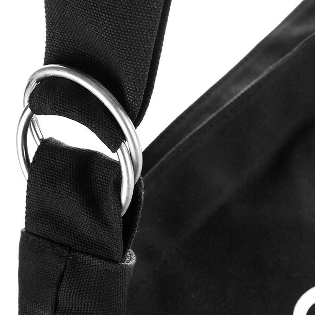 Duża torba bawełniana na ramię czarna 4559