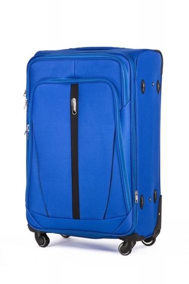 Duża walizka miękka L Solier STL1706 jasnoniebieska