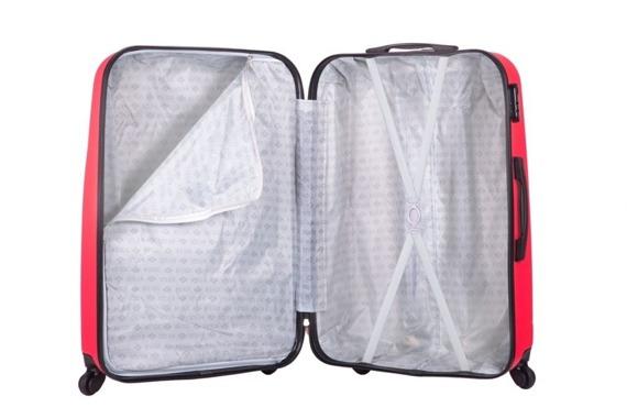 Duża walizka podróżna L stl310 abs koralowa