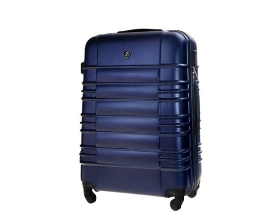 Duża walizka podróżna STL838 granatowa