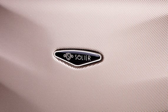 Duża walizka podróżna na kółkach SOLIER STL402 L ABS granatowa