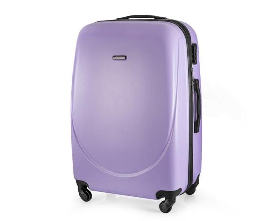 Duża walizka podróżna twarda STL856 fioletowa