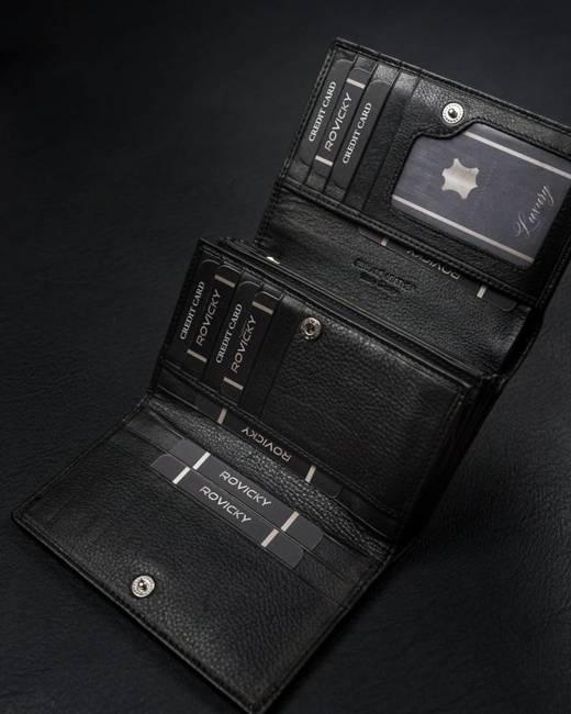 Duży portfel damski czarny CAVALDI 57006-SPN-6323 BLACK