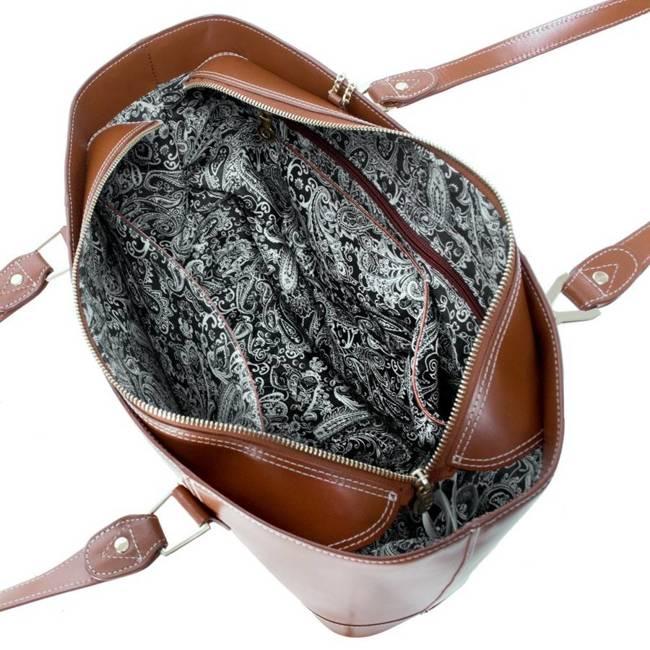 Ekskluzywna skórzana torebka damska brązowa Mcklein Arya