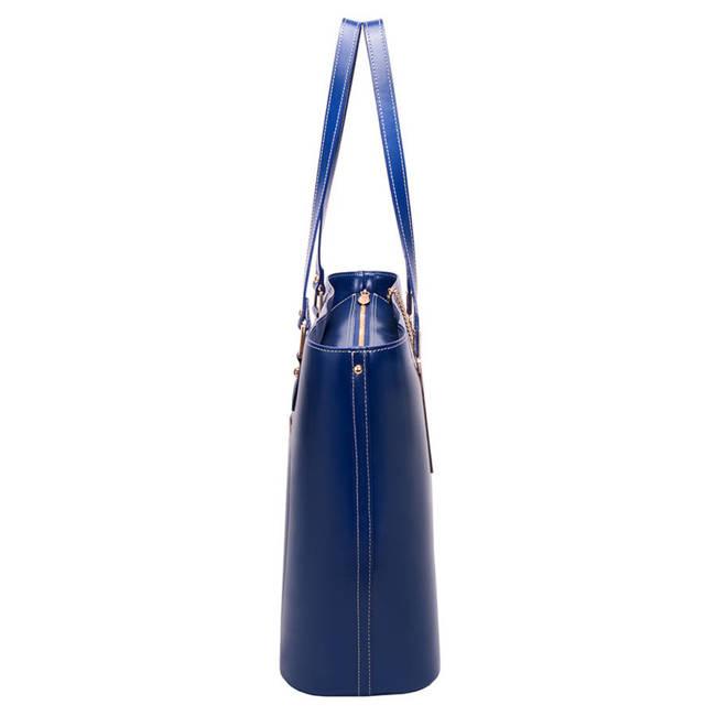 Ekskluzywna skórzana torebka damska granatowa Mcklein Cristina 97547