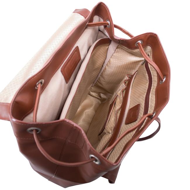 Ekskluzywny skórzany plecak męski McKlein Hagen 88024 brązowy