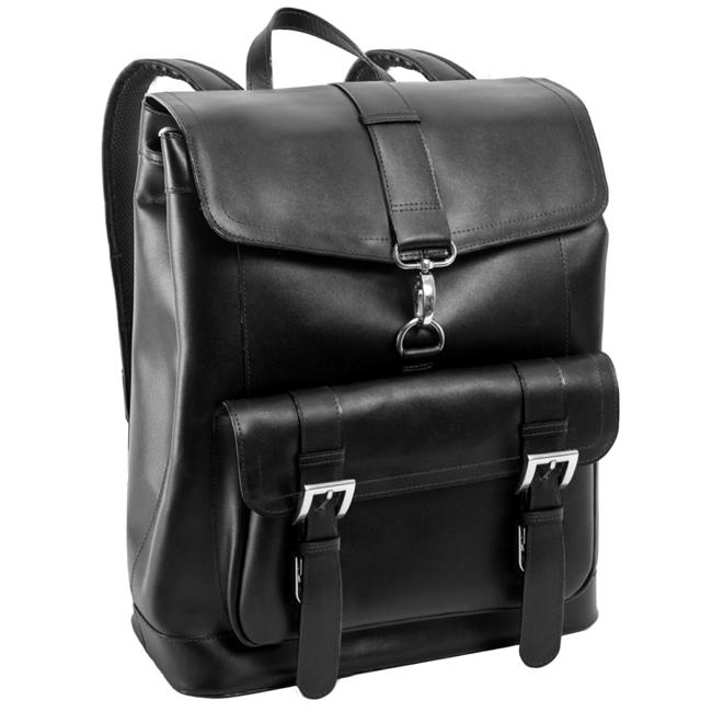 Ekskluzywny skórzany plecak męski McKlein Hagen 88025 czarny