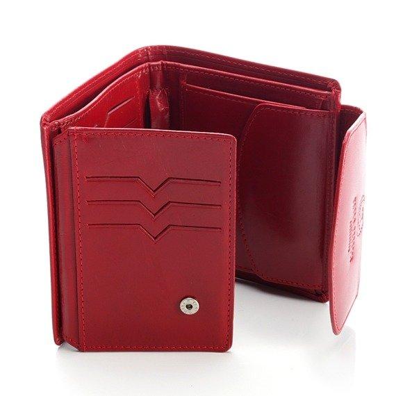 Ekskluzywny skórzany portfel damski w pudełku GA92