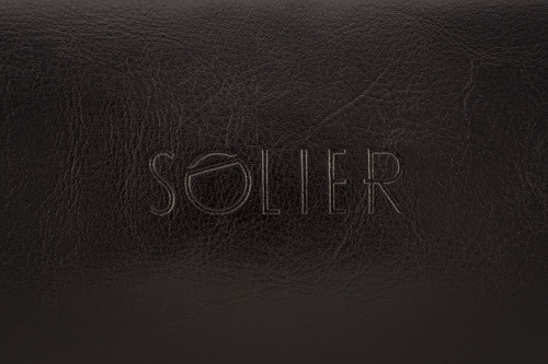 Elegancka skórzana kosmetyczka męska Solier ciemnobrązowa