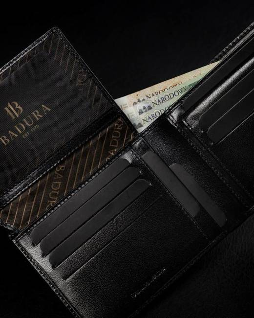 Elegancki portfel męski czarny Badura PO_M078CZ_CE
