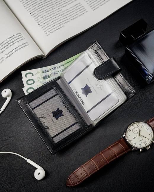 Etui na karty banknotówka czarna Loren CRM-70-05 BL B.RFID