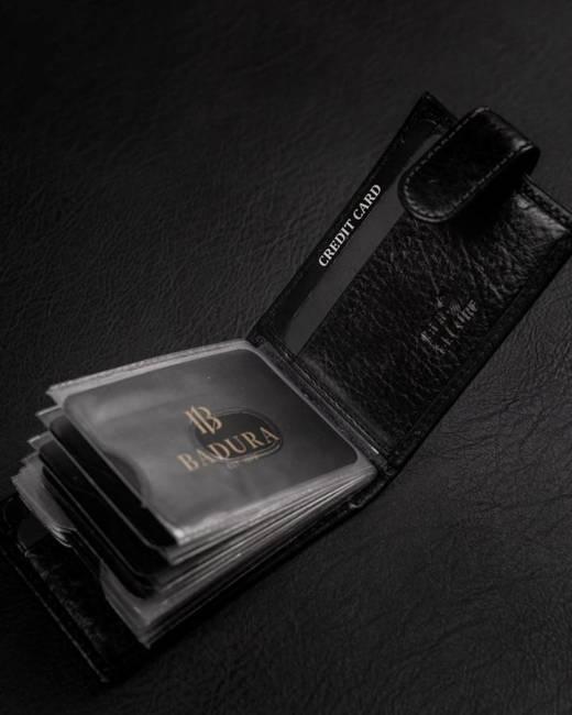 Etui na karty czarne Badura PO_M057CZ_CE