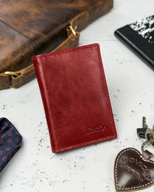Etui na karty czerwone Rovicky N1912-RVTK RED