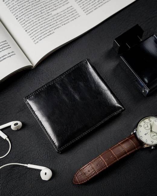 Etui na karty i dokumenty czarne Rovicky N1904-RVTK BLACK