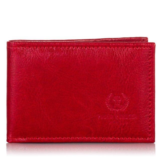 Etui na wizytówki, karty skórzane Paolo Peruzzi H-03-PP czerwone