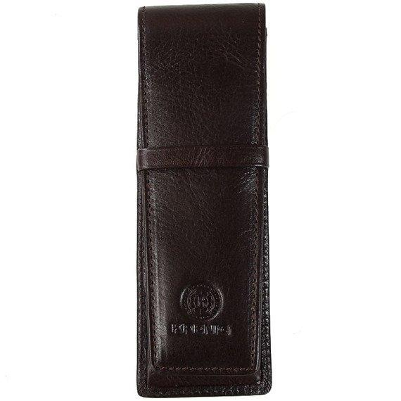 KRENIG Classic 12032 brązowe skórzane etui na długopisy