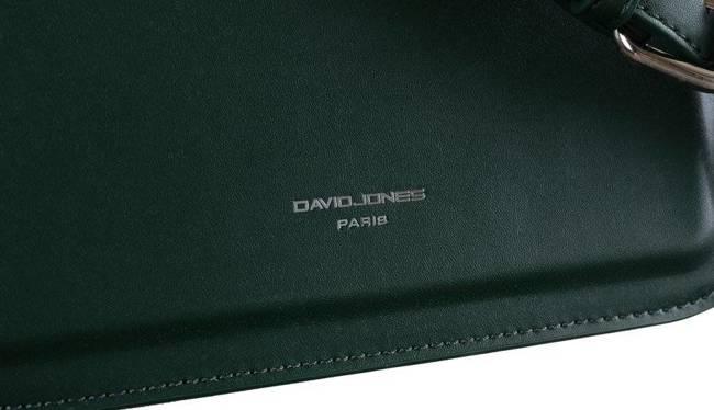 Klasyczna listonoszka zielona David Jones CM6034
