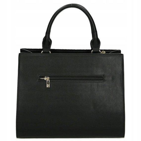 Klasyczna torebka damska z plecionką NOBO czarna 1310