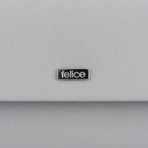 Kopertówka damska Felice F13 MAT jasnoszara