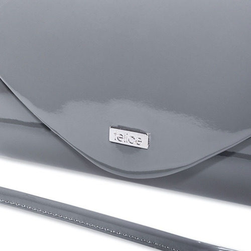 Kopertówka damska Felice F15 LAKIER grafitowa