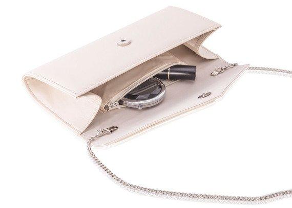 Kopertówka damska z łańcuszkiem Felice F18 beżowa