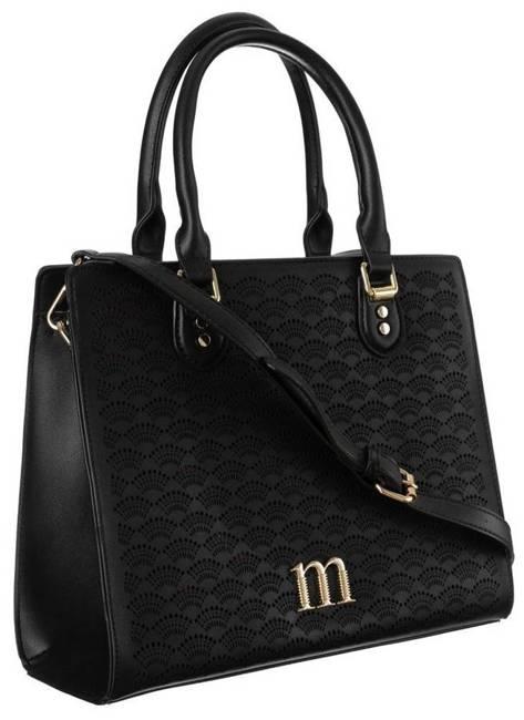 Kuferek czarny z ażurowym frontem Monnari BAG3670-020