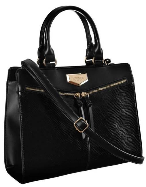 Kuferek damski czarny Monnari BAG2820-M20