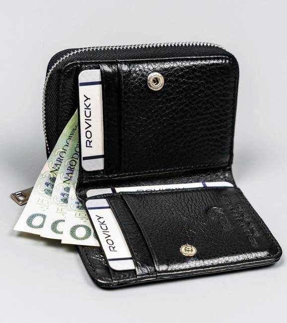 Lakierowany portfel damski czarny Lorenti 5157-SH-1493 BLACK