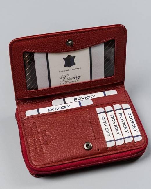 Lakierowany portfel damski czerwony Lorenti 01-12-BPL-0966 RED