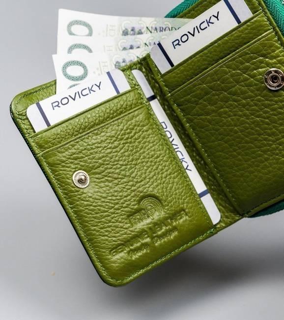 Lakierowany portfel damski zielony Lorenti 5157-SH NAPIS GREEN