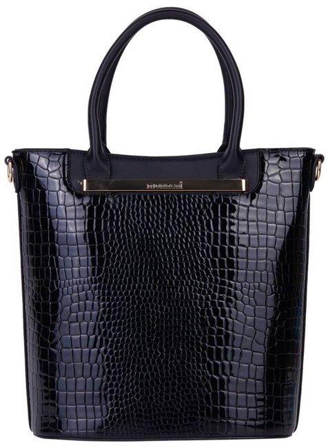 Lakierowany shopper czarny Monnari BAG2000-020