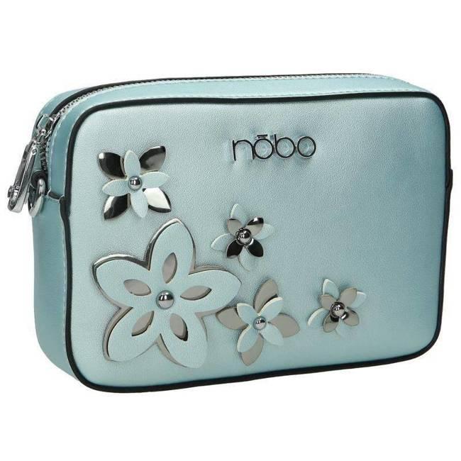 Listonoszka damska błękitna z kwiatami Nobo NBAG-E1600-CM12