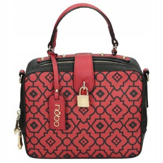 Listonoszka damska kuferek NOBO NBAG-H2370-C005 czerwona
