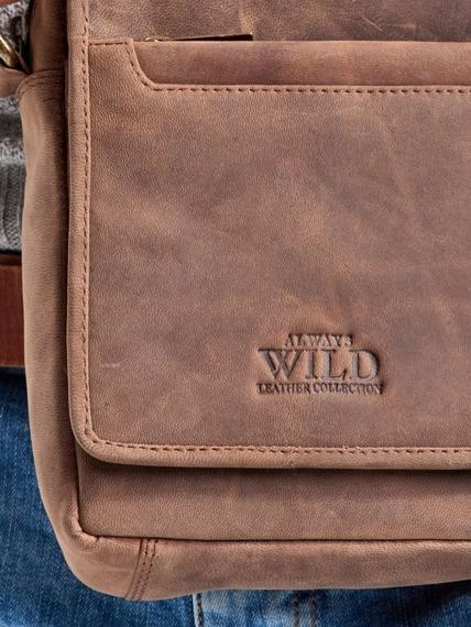 Listonoszka męska c.brązowa Always Wild 1117-TGH D.BROWN