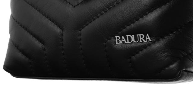 Listonoszka pikowana czarna Badura T_D112CZ_CD
