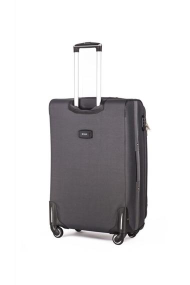 Mała podręczna walizka miękka S Solier STL1706 szara